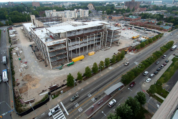 A project now under construction in Cleveland will eventually house the Case Western Reserve University's medical, dental and nursing schools, as well as the Cleveland Clinic's in-house medical school.