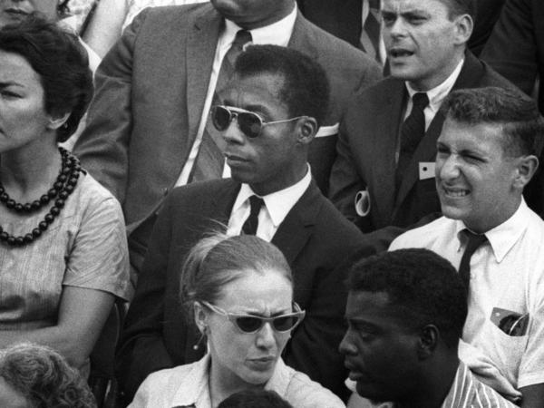 James Baldwin in the documentary <em>I Am Not Your Negro</em>.