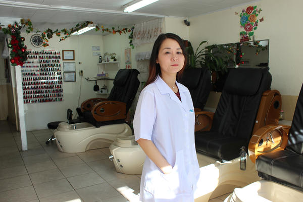 Mai Dang's Fashion Nails has been certified as a healthy salon since 2013. Salons with that designation provide proper ventilation, train employees on best practices, and avoid products containing formaldehyde, toluene and other particularly toxic solvents and glues.