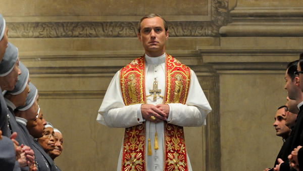 Pope Pius XIII (Jude Law) in the new HBO series <em>The Young Pope</em>.