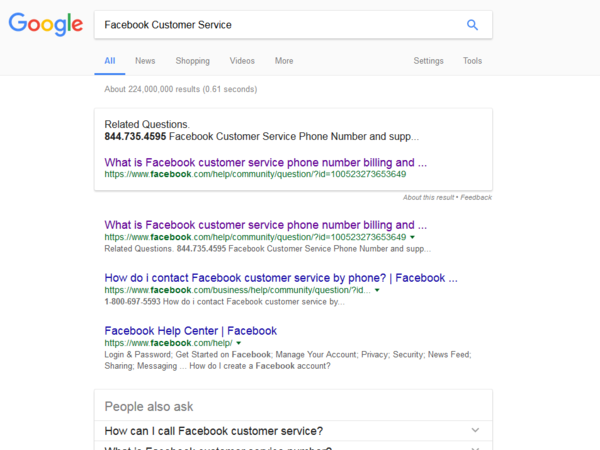 "Until recently, a phone number at the top of Google search for ""Facebook customer service"" led callers to a scam, NPR has found."