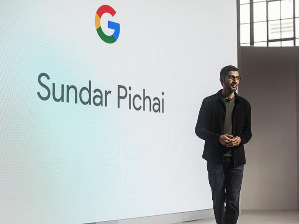 Pichai Sundararajan, known as Sundar Pichai, CEO of Google Inc. speaks during an event to introduce Google Pixel phone and other Google products on October 4, 2016 in San Francisco, Calif.