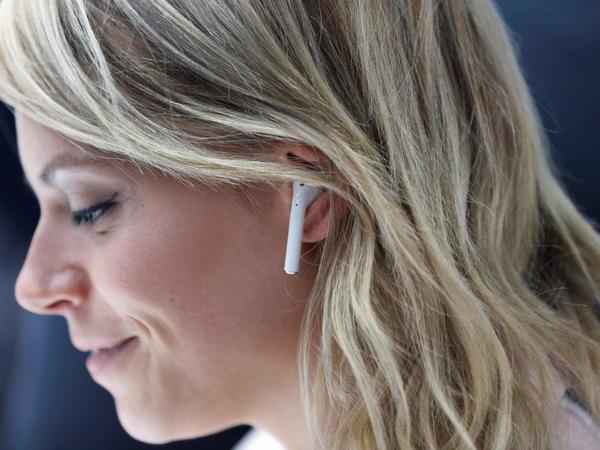 Apple did away with the headphone jack when it introduced the iPhone 7. Wireless earbuds or an adapter must be used.