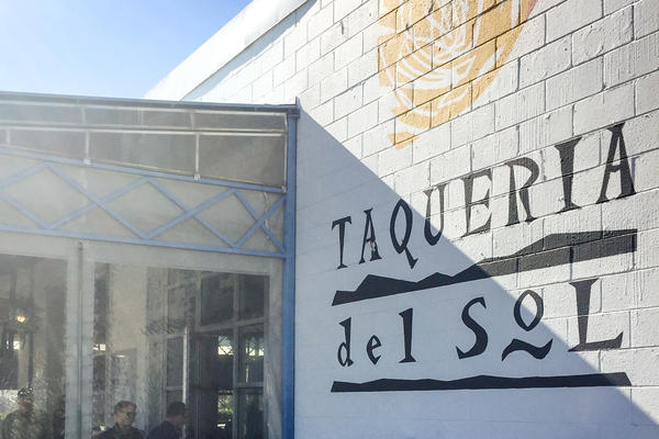 Taqueria del Sol on Atlanta's west side serves a blend of Mexican and Deep South flavors, like barbecue tacos.