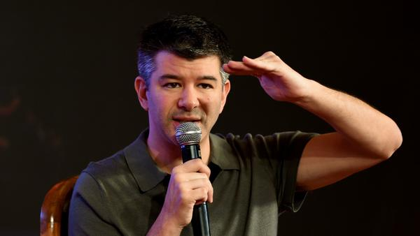 Uber CEO Travis Kalanick, shown here in December 2016, has left President Trump's business advisory board because of flak from the president's critics.