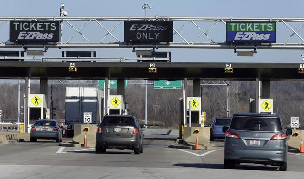 Motorists passing through a toll booth in Ohio in 2012.