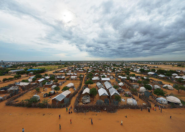 An overview of the part of the eastern sector of the sprawling Dadaab refugee camp in Kenya in April 2015.
