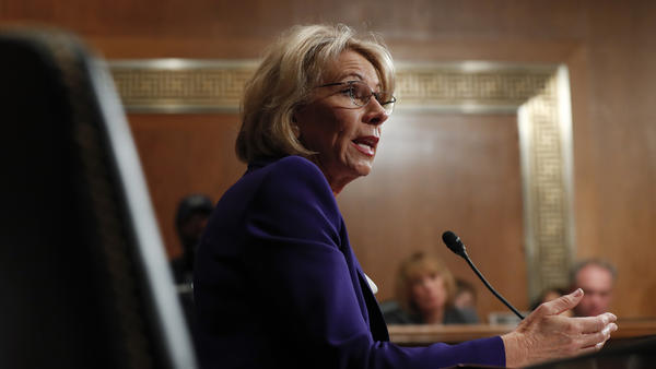 DeVos testifies during her confirmation hearing before the Senate Health, Education, Labor and Pensions Committee on Jan. 17.