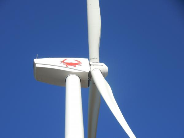 Crisfield's wind turbine sports the town's iconic crab
