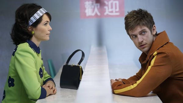 Katie Aselton and Dan Stevens appear in <em>Legion</em>, a new FX series inspired by the Marvel comic.