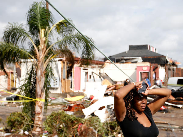 A neighborhood in the eastern part of New Orleans where a tornado touched down on Tuesday. Tornadoes destroyed homes and injured dozens of people in the city.