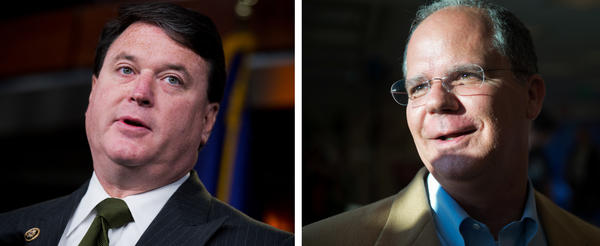 Rep. Todd Rokita, R-Ind., (left) and Rep. Brett Guthrie, R-Ky., have introduced a bill to overturn regulations on school accountability and teacher preparation.