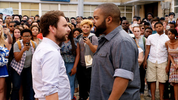 Someone's About to Get Schooled: Charlie Day and Ice Cube in <em>Fist Fight</em>.