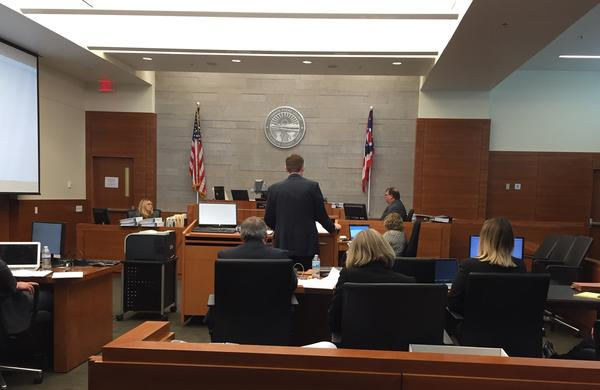 ECOT Superintendent Rick Teeters testifying during a hearing at the Franklin County Court of Common Pleas in Columbus.