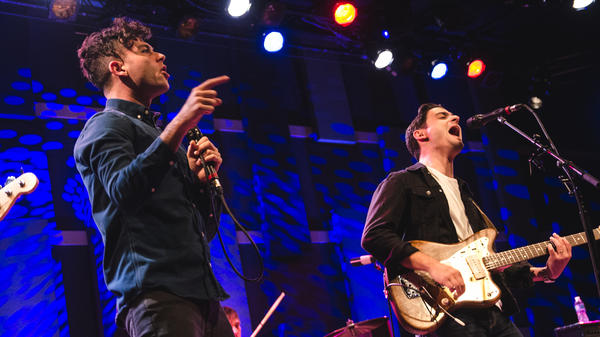 Arkells performs onstage at World Cafe Live in Philadelphia.