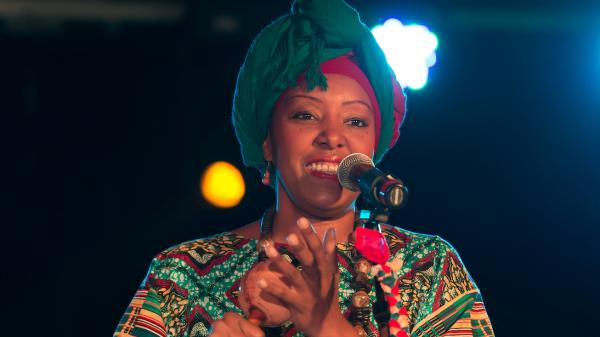 Afro-Venezuelan singer Betsayda Machado, performing at globalFEST in New York City in January.