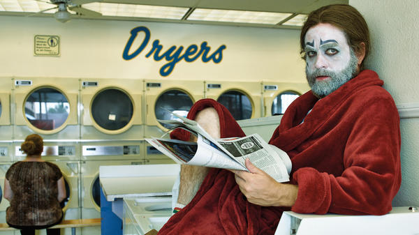 Galifianakis' character, Chip Baskets, has moved back home to Bakersfield, Calif., after dropping out of clown school.