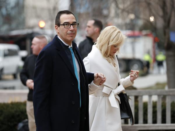 Steven Mnuchin, seen on Jan. 20, has been confirmed as Treasury secretary.