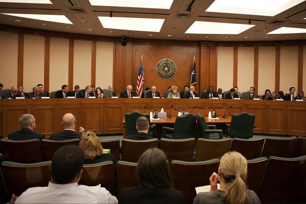 The Senate Finance Committee deliberates on February 2, 2015.