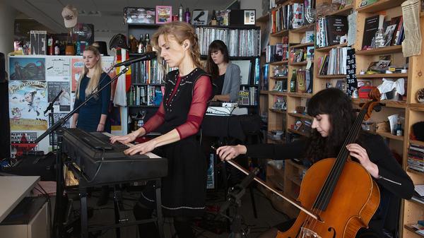 Agnes Obel performs perform a Tiny Desk Concert on Dec. 9, 2016. (Raquel Zaldivar/NPR)