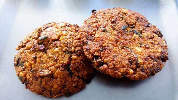 There are many types of vadais to choose from, such as keerai vadai, which is made with fresh greens.