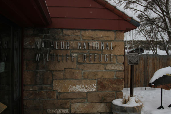<p>The Malheur National Wildlife Refuge headquarters, seen here in January 2016, will remain closed during the trial for seven people charged in the refuge's takeover.</p>