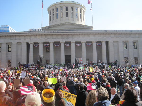 Thousands came to the Statehouse to protest Senate Bill 5 in 2011.