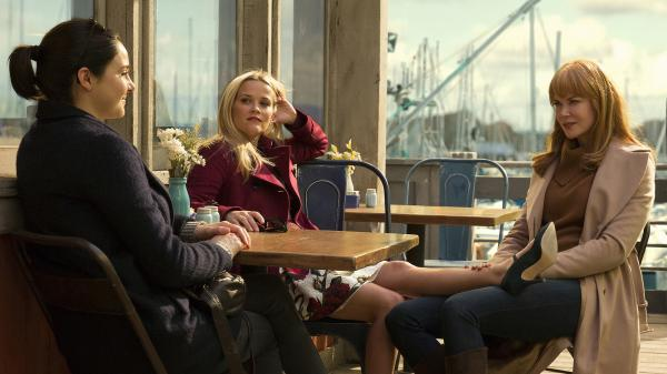Shailene Woodley, Reese Witherspoon and Nicole Kidman play Monterey moms — and possible murderers — in the HBO miniseries <em>Big Little Lies.</em>