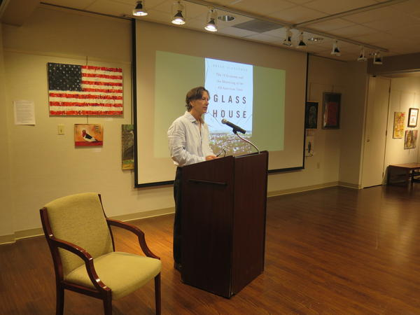 On the day his book was published, Lancaster native Brian Alexander talked about it before a capacity crowd at the Fairfield County District Library.