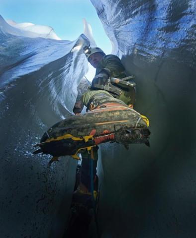 "<p>Eduardo ""Eddy"" Cartaya, glacier cave explorer.</p>"