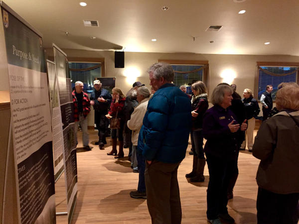 <p>More than 100 people attended a public meeting in Cle Elum to voice their opinions about reintroducing grizzly bears to the North Cascades.</p>