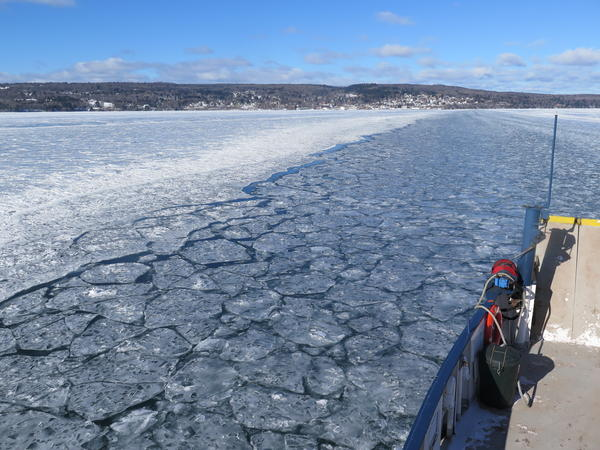 Typically, by this time in the winter, the ice is thick enough to support an ice road from Bayfield, Wis., to Madeline Island. But for the second year in a row, the ferry will run all winter long.