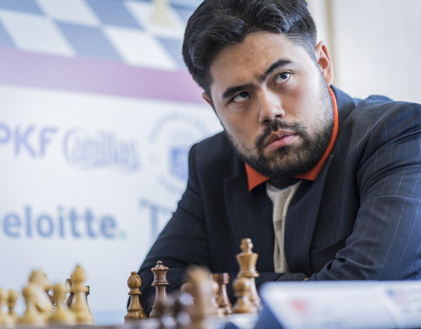 Gibraltar Champion GM Hikaru Nakamura at the Tradewise Gilbraltar Open in 2017.