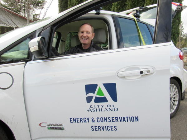 <p>Dan Cunningham performs energy audits for the City of Ashland, Oregon.</p>