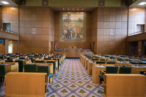 File photo of the Oregon House Chambers