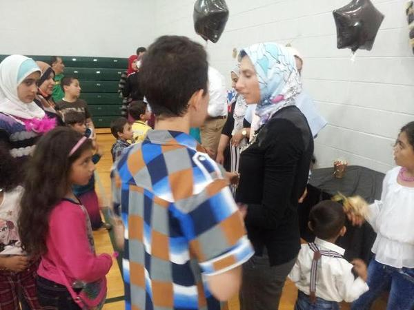 Newly-arrived Syrian refugees in Oakland County.