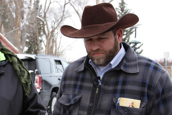 <p>Ammon Bundy at the Malheur National Wildlife Refuge on Jan. 3, 2016. Bundy began testimony in the trial of seven occupiers of the Malheur refuge Tuesday, Oct. 4, 2016.</p>