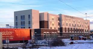 The Hyatt Place under construction in 2015 is one of more than a dozen built during the oil and gas boom
