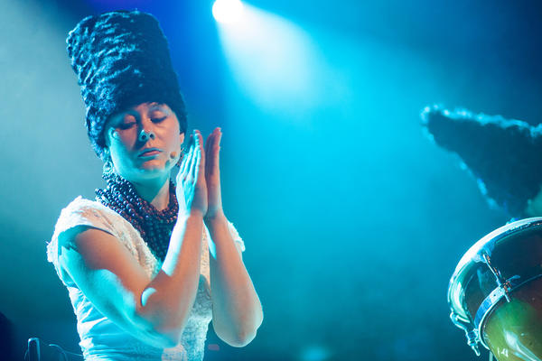 "The Ukrainian ""punk-folk"" band DakhaBrakha brought its singular style to globalFEST at Webster Hall in New York City on Jan. 12, 2014."
