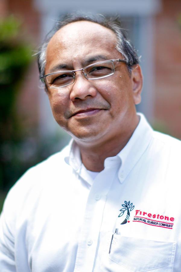 Ed Garcia, general director of Firestone's rubber plantation, oversees 8,500 employees, 185 square miles of rubber trees, 27 schools, 450 teachers, a hospital — and now, an Ebola clinic.