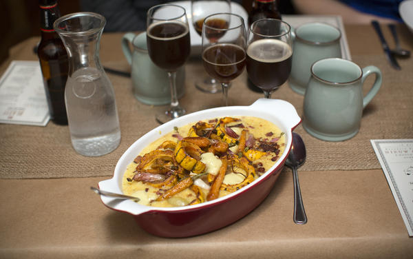 This Dutch hot pot includes roasted vegetables native to New York and smoked salt pork in a cornmeal porridge inspired by Lenape Indian cooking.