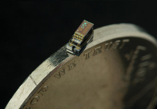 The Michigan Micro Mote (M3) is the world's smallest computer. A temperature sensor is one of the three types of the M3.