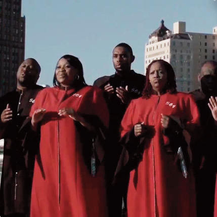 Members of the Larry Callahan and Selected of God gospel choir
