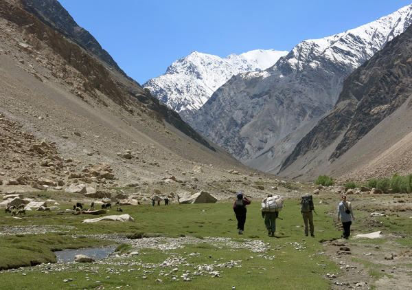 A group of Afghan women are attempting to reach the 24,580-foot summit this summer. In mid-May, two of the climbers, along with two American chaperones, visited Afghanistan's highest mountain to see the terrain firsthand in preparation for the historic climb.
