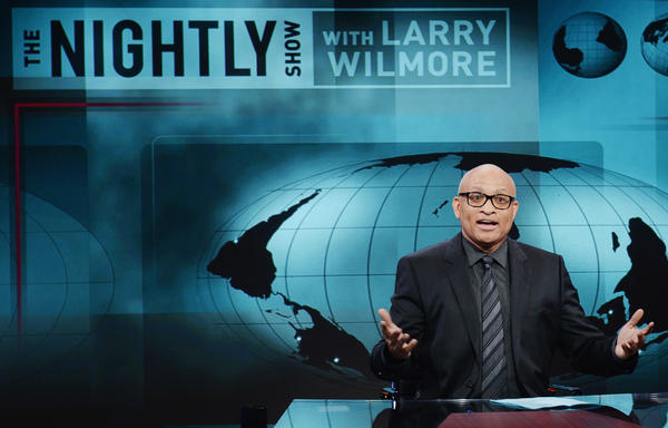 Host Larry Wilmore on the Jan. 19 debut episode of Comedy Central's <em>The Nightly Show with Larry Wilmore</em>.