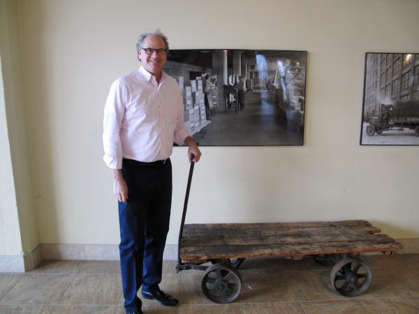 Howard Zemsky in the lobby of the Larkin Building in Buffalo, N.Y., which his company renovated.