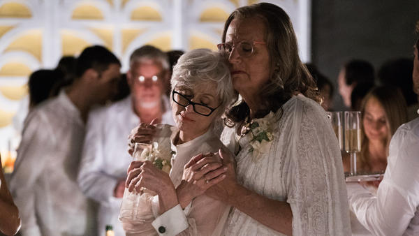 Season 2 of Amazon's <em>Transparent</em> begins with Maura Pfefferman (played by Jeffrey Tambor) and her ex-wife, Shelly, attending their eldest daughter's wedding.