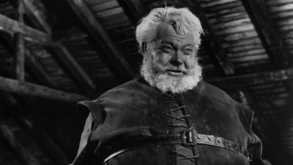 Orson Welles plays Sir John Falstaff, the portly Shakespearean rapscallion in <em>Chimes at Midnight</em>.