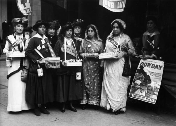Sophia Duleep Singh (fourth from left) fought for causes like women's suffrage and better treatment of Indian soldiers in World War I — enraging the British government.