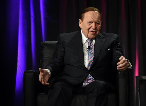 Attorneys have filed three libel lawsuits against journalists on behalf of Sheldon Adelson (shown here in Las Vegas in 2014). He won an apology and legal fees from Britain's <em>Daily Mail</em> in 2008.